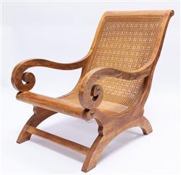 Sale 9200P - Lot 99 - A teak plantation chair, Height 93cm x Width 62cm x Depth 110cm