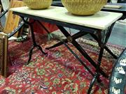 Sale 8462 - Lot 1030 - Marble Top Hall Table