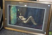 Sale 8509 - Lot 2026 - Paul Delprat (1942 - ) Reclined Nude, pastel on paper, 25 x 44.5cm, signed lower right
