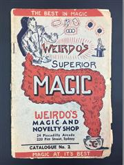 Sale 8539M - Lot 44 - Weirdos Superior Magic Catalog No. 2. Pitt St Sydney. Some creasing. Item from Weirdos shop in Lot 267
