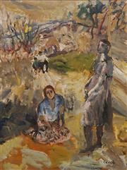 Sale 8633 - Lot 515 - Judy Cassab (1920 - 2015) - The Visit, c1984 50 x 37cm
