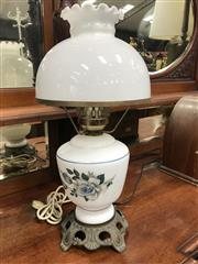 Sale 8822 - Lot 1241 - Glass and Brass Table  Lamp