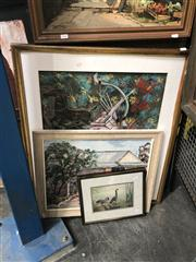 Sale 8819 - Lot 2129 - 3 Works: Artist Unknown - Home, acrylic on board; Artist Unknown - The Archer, mixed media with a Wild Geese Print