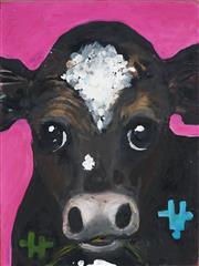 Sale 8949 - Lot 2043 - Eddi Kewley - Crazy Cow, Sorry Cow 40 x 30 cm (total: 40 x 30 x 4 cm)