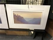 Sale 8903 - Lot 2041 - Scott Ireland Three Sisters, Blue Mountains oil canvas on board (mounted/unframed), 36 x 56.5cm, signed -