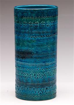 Sale 9131 - Lot 2 - A Bitossi style cylindrical vase (H 22cm)