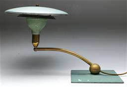 Sale 9148 - Lot 85 - An industrial style desk lamp (untested) (L: 57cm)
