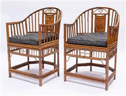 Sale 9200P - Lot 100 - A set of six superb antique Brighton Pavilion chairs, Height of back 90cm x Width 54cm x Depth 54cm