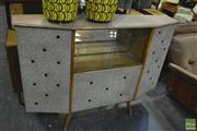 Sale 8350 - Lot 1025 - 1950s Bar with Buttoned Vinyl and Glass Sliding Doors