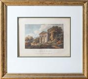 Sale 8575H - Lot 32 - The Temple of Bacchus, a later hand coloured original etching 1796 Frame size H: 44cm W: 48cm