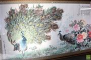 Sale 8581 - Lot 80 - Chinese Large Peacock Panel by Artist Peng Zhongliu