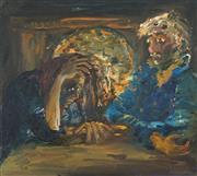 Sale 8773 - Lot 582 - Celia Perceval (1949 - ) - The Misunderstanding 44 x 49cm