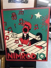 Sale 8807 - Lot 2082 - Martin Sharp - Nimrod 10, screenprint laid on board (AF) 88 x 73cm