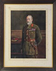 Sale 8994W - Lot 607 - Framed Print Of King George V (73cm x 58cm)