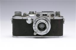 Sale 9093 - Lot 19 - A Leica IIIc Camera, Fitted With Leitz Elmer Lens (f=5cm 1:3,5)