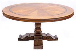 Sale 9200P - Lot 92 - A circular cherry wood custom made farm house table, Height 75cm x Width 160cm