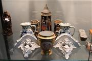 Sale 8340 - Lot 74 - Paris Porcelain Jar with Other Ceramics incl Delft
