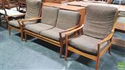 Sale 8383 - Lot 1011 - Vintage Teak Three Piece Parker Lounge Setting