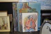 Sale 8419T - Lot 2042 - Assorted Unframed Artworks (7)
