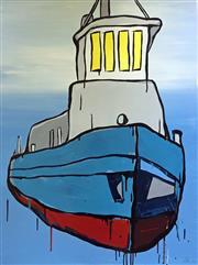 Sale 8607A - Lot 5022 - Jasper Knight (1978 - ) - Four Yellow Windows 102.5 x 76cm