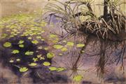 Sale 8633 - Lot 504 - Max Miller (1940 - ) - Gulf Waterhole, 1993 21 x 31cm