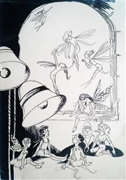 Sale 8821A - Lot 5081 - Pixie OHarris (1903 - 1991) - Fairies, Bells & Elves, c1930 27.5 x 17.5cm