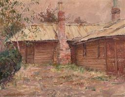 Sale 9252A - Lot 5069 - WILLIAM NICHOLLS ANDERSON (1872 - 1927) Cottage oil on canvas on board 25.5 x 33 cm (frame: 45 x 52 x 2 cm) signed lower left
