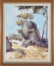 Sale 8408 - Lot 595 - Otto Boron (1935 - ) - Australian Landscape, 1974 35 x 28cm