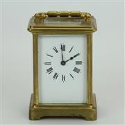 Sale 8413 - Lot 76 - French Brass Carriage Clock