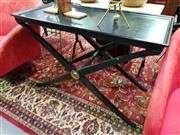Sale 8462 - Lot 1019 - Timber Side table with X base