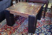 Sale 8554 - Lot 1069 - Timber Side Table with Copper Top