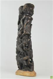 Sale 8568 - Lot 4 - African Carved Tree Of Life ( H 46cm)