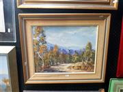 Sale 8695 - Lot 2032 - S Roberts - Mountain Landscape, oil on canvas board, 50 x 60cm (frame size), signed lower left