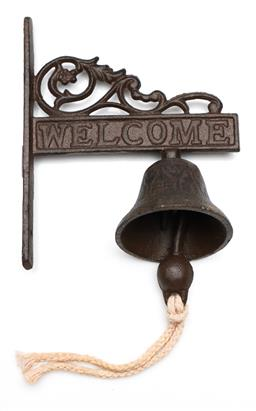 Sale 9246 - Lot 26 - Cast iron Welcome bell