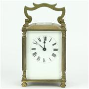 Sale 8314 - Lot 14 - Brass Rectangular Case Carriage Clock