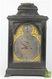Sale 8516 - Lot 25A - George III Ebonised Bracket Clock Signed John Thwaites Clerkenwell, London having a silver face, gilt details, subsidary seconds str...