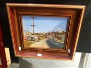 Sale 8695 - Lot 2021 - Ian Gliddon - Carcoar, NSW, 1990, oil on board, 31 x 36cm (frame size), signed and dated lower left
