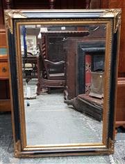 Sale 8714 - Lot 1023 - Antique Style Black & Gilt  Bevelled Edge Mirror