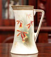 Sale 8804A - Lot 19 - An Australian themed Royal Worcester Jug painted with kangaroo paws and signed R Austin, made for Flavelle Brothers and registration...