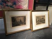 Sale 8811 - Lot 2060 - Pair of Early Hand-Coloured Engravings, 34 x 40.5cm (frames)
