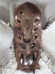 Sale 8826 - Lot 1023 - Carved Tribal Mask