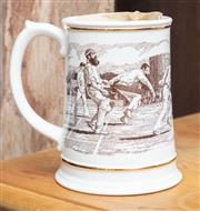 Sale 9060H - Lot 89 - A Franklin porcelain tankard commemorating the ashes, with accompanying certificate of authenticity – height 16cm