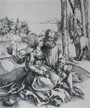 Sale 8976A - Lot 5026 - After Albrecht Durer - Untitled (Man with Young Woman and Horse) 15 x 13 cm (59 x 49 x 4 cm)
