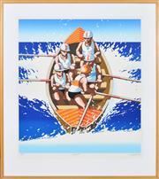 Sale 8344 - Lot 501 - James Willebrant (1950 - ) - Surfboat, 1993 83 x 74cm