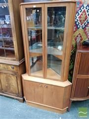 Sale 8469 - Lot 1075 - Quality Danish teak corner cupboard