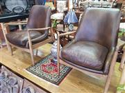 Sale 8460 - Lot 1026 - Pair of French Quarter Danish Armchairs