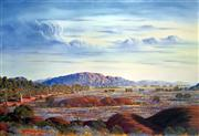 Sale 8607A - Lot 5025 - Jack Absalom (1927 - ) - Everard Ranges - Land of the Pitjantjatjara 43 x 60cm