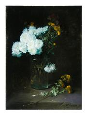 Sale 8651A - Lot 43 - Charles Frederic Jung (1865 – 1936) - Still Life Flowers 73 x 54cm