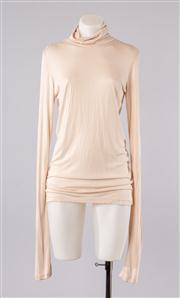 Sale 8740F - Lot 88 - An Ann Demeulemeester nude-coloured rayon turtleneck, size 42