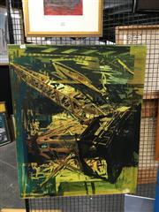 Sale 8752 - Lot 2057 - Luke Wrencher -  Industrial Scene photographic montage, ed.1/11, 70 x 86.5cm